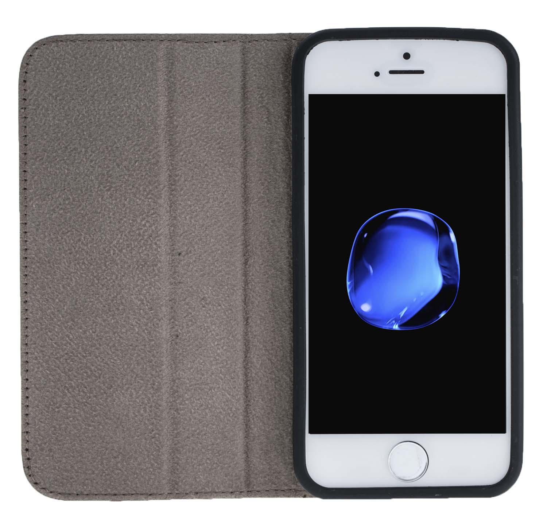 iphone se 5 5s h lle wallet floater taupe aus leder. Black Bedroom Furniture Sets. Home Design Ideas