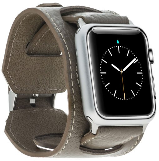 "Apple Watch Lederarmband ""2in1"" in 42mm / 44 mm Taupe"
