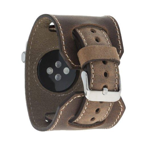 "Armband aus echtem Leder für die Apple Watch Series 1 - 4 Leder Lederarmband ""2in1"" in 38mm / 40 mm  Vintage Braun"
