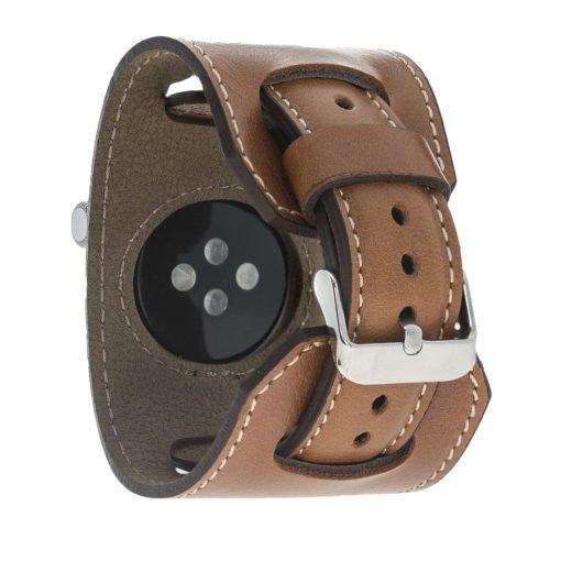 "Apple Watch Lederarmband ""2in1"" in 42mm / 44 mm Cognac Braun"