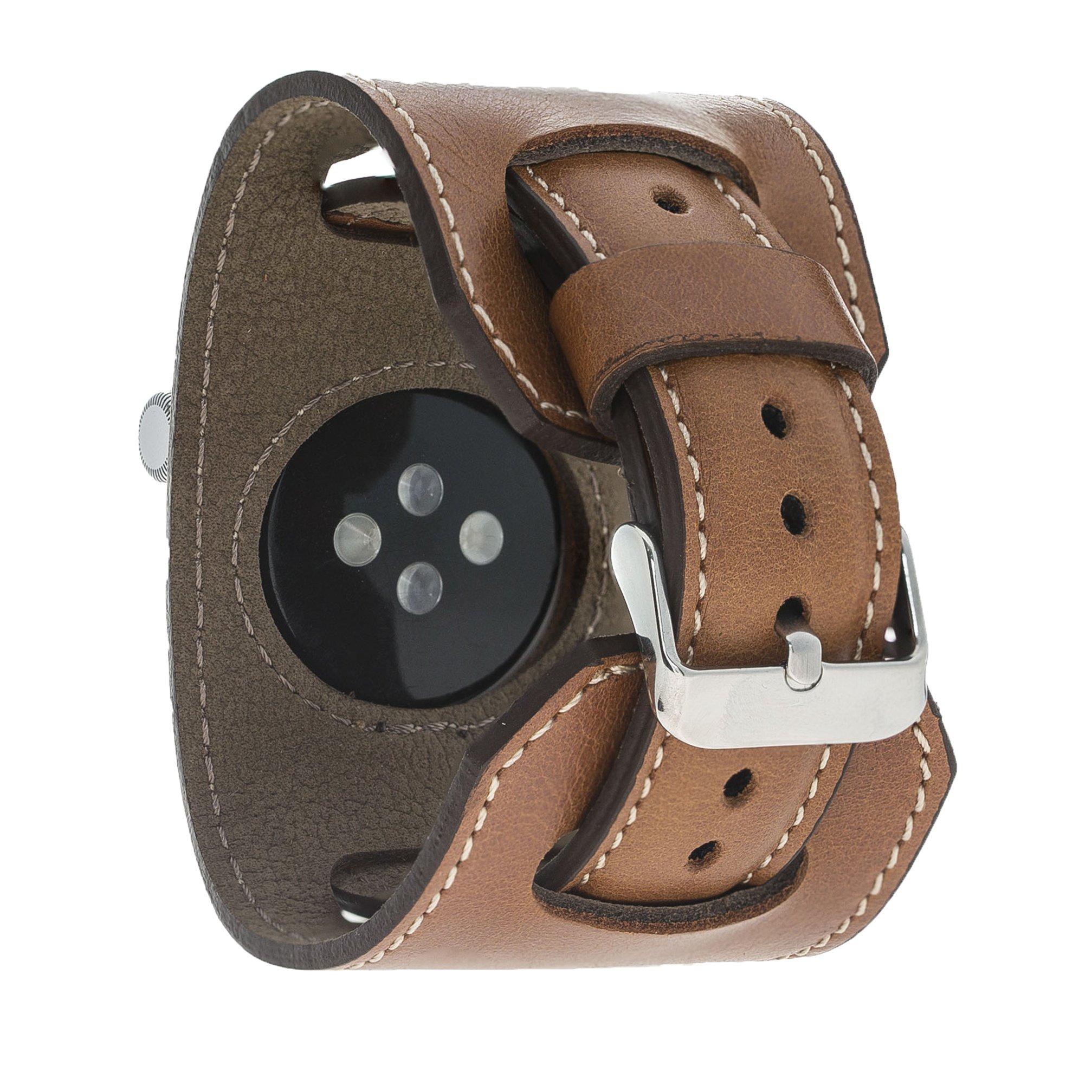 "Apple Watch Lederarmband ""2in1"" in 38mm / 40 mm  Cognac Braun"