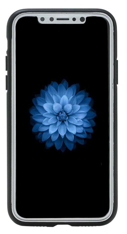 "iPhone X / XS Lederhülle ""STANFORD"" (Cognac Braun)"