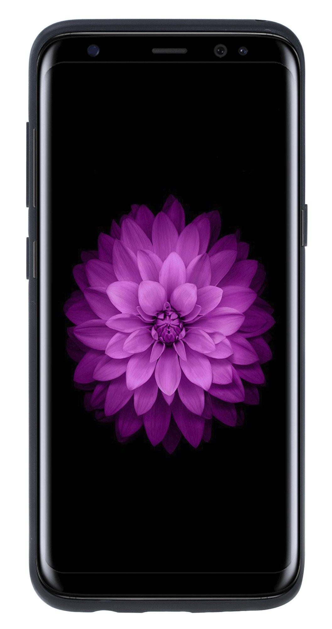 """Samsung Galaxy S8 """"STANFORD"""" Hülle in Strauss Prägung Schwarz"""