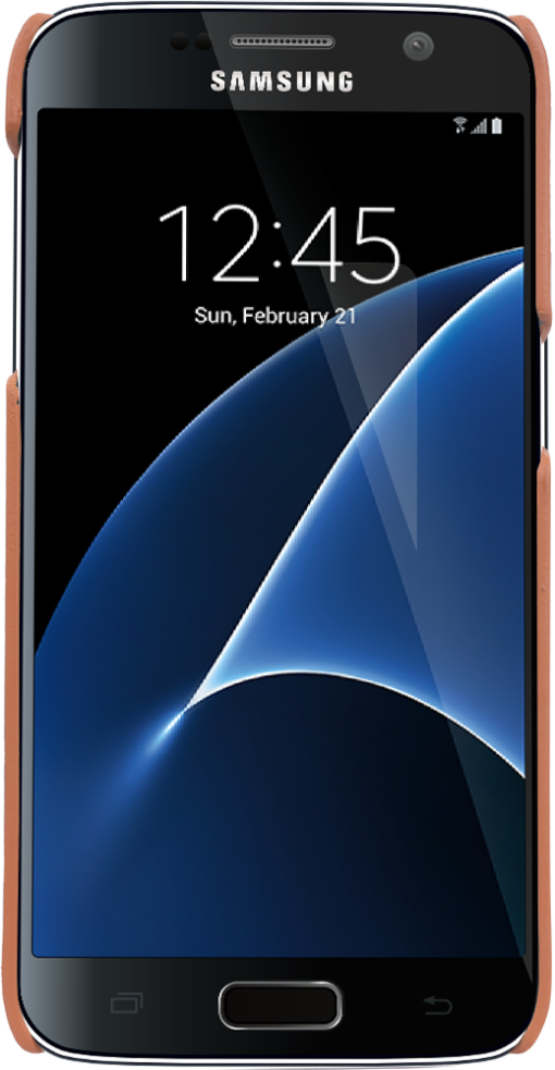 "Samsung Galaxy S7 ""Slimfit"" in Cognac Braun"