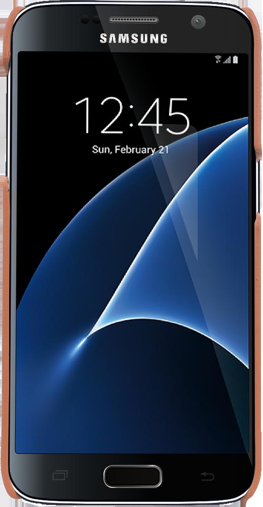 """Samsung Galaxy S7 """"Pomona"""" in Cognac Braun"""