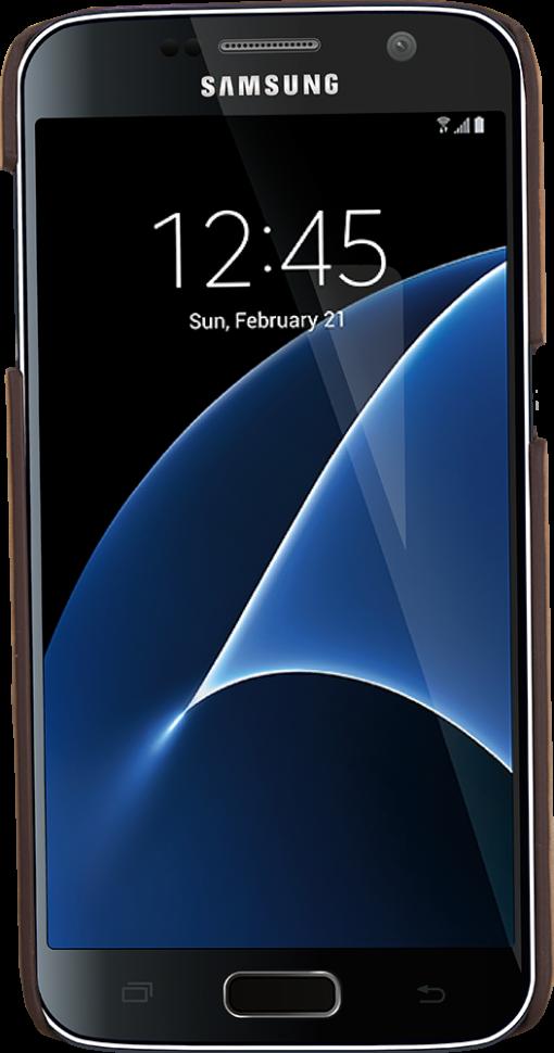 """Samsung Galaxy S7 """"Slimfit"""" in Vintage Braun"""