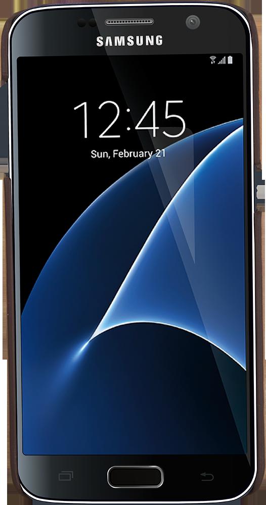 "Samsung Galaxy S7 ""Pomona"" Leder Hülle Tasche Lederhülle Ledertasche Backcover in Vintage Braun"