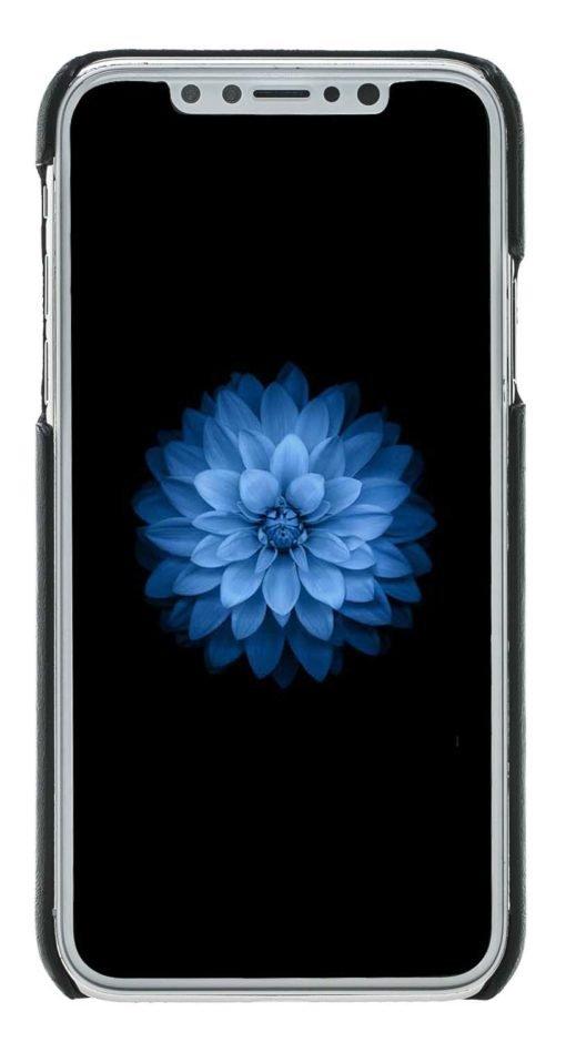 """iPhone X / XS Hülle - """"Pomona"""" - Schwarz aus Leder"""