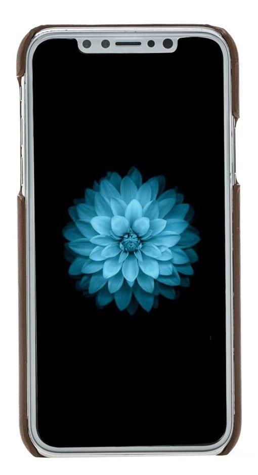 "iPhone X / XS Hülle - ""Pomona"" - Cognac Braun Burned aus Leder"