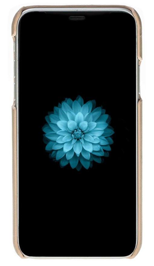 """iPhone X / XS Hülle - """"Yale"""" - Nude Rosa aus Leder"""