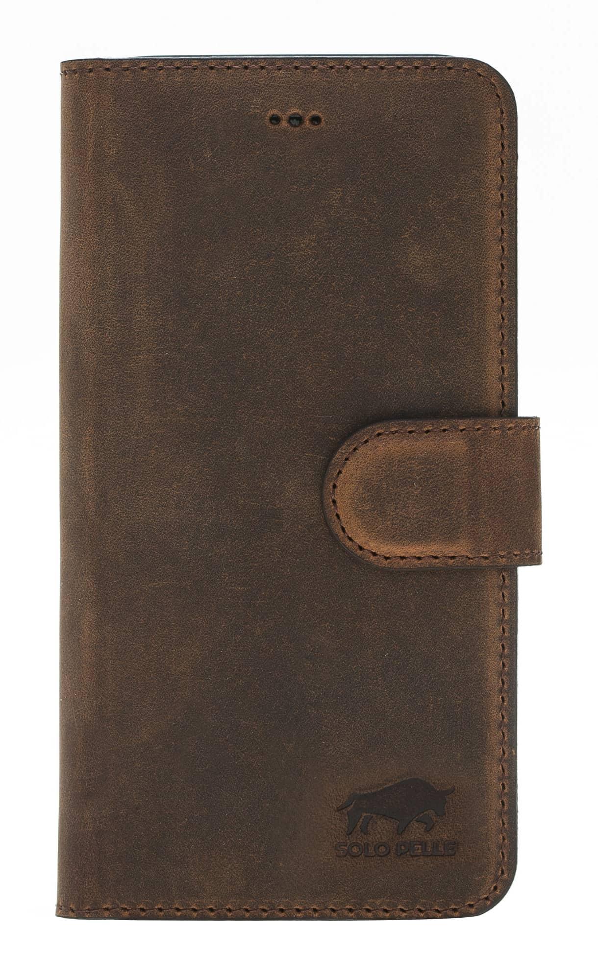 "iPhone X / XS Hülle - ""Wallet"" - Vintage Braun aus Leder"