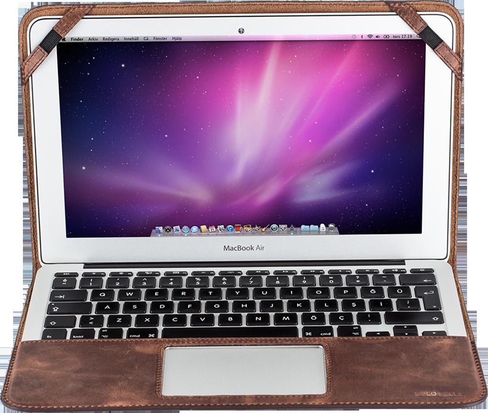 """MacBook Air 13 Zoll """"Munich"""" Tasche aus echtem Vintage Braun"""