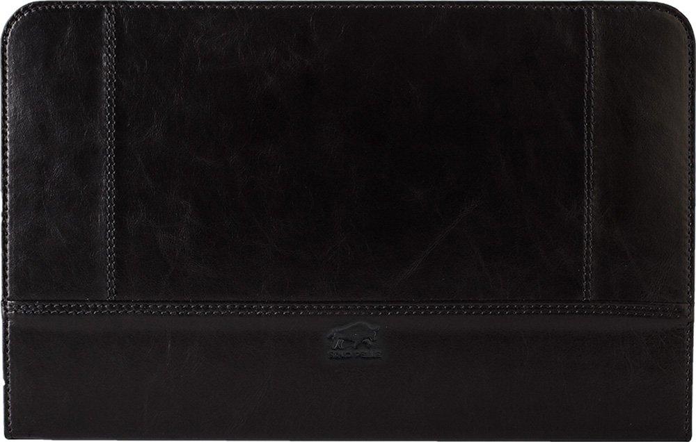 MacBook Air 11 Zoll Tasche aus echtem Leder Schwarz