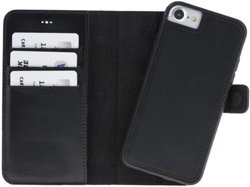 "iPhone 8/7 Hülle - Abnehmbar ""Harvard"" - Schwarz aus Leder"