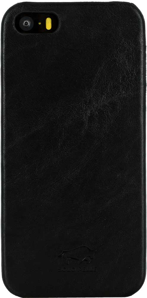 "iPhone SE / 5 / 5S Hülle - ""Ultra Slim"" - Schwarz aus Leder"