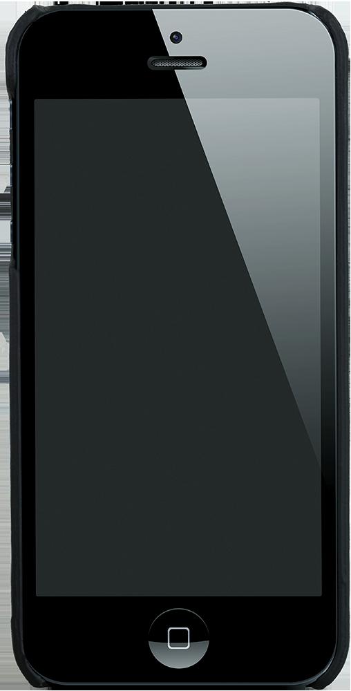 "iPhone SE / 5 / 5S Hülle - ""Yale"" - Schwarz aus Leder"