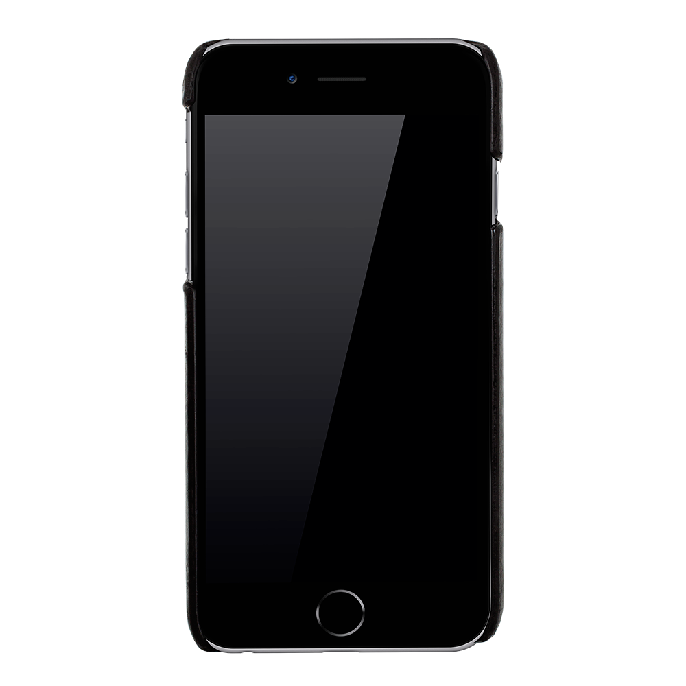 iphone 6 6s ultra slim glattleder schwarz. Black Bedroom Furniture Sets. Home Design Ideas
