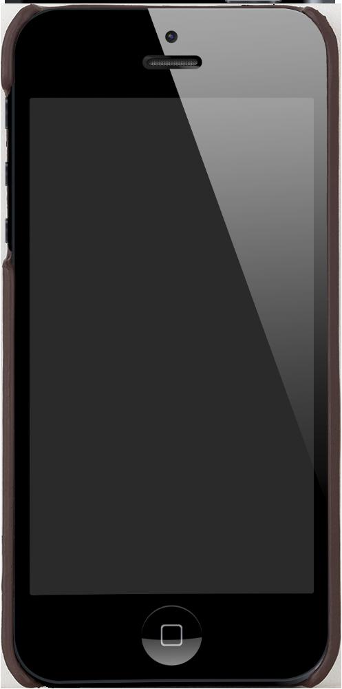 "iPhone SE / 5 / 5S Hülle - ""Ultra Slim"" - Vintage Braun aus Leder"