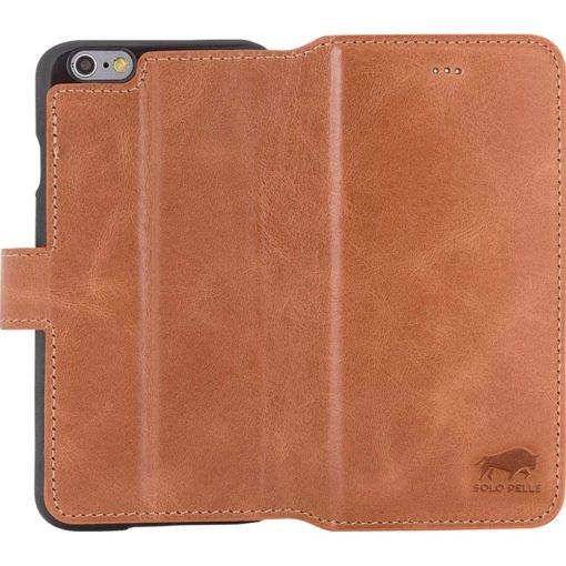 """iPhone 6 / 6S Hülle - """"Wallet"""" - Cognac Braun aus Leder"""
