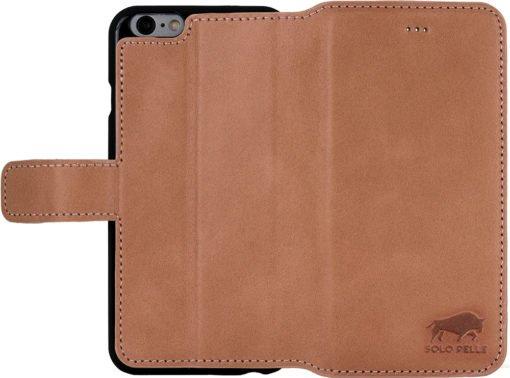 """iPhone 6 / 6S Hülle - """"Wallet"""" - Light Rose aus Leder"""