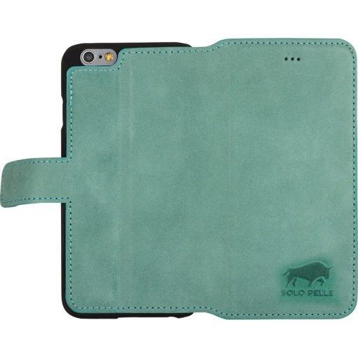 """iPhone 6 / 6S - """"Wallet"""" - Pastelgrün aus Leder"""