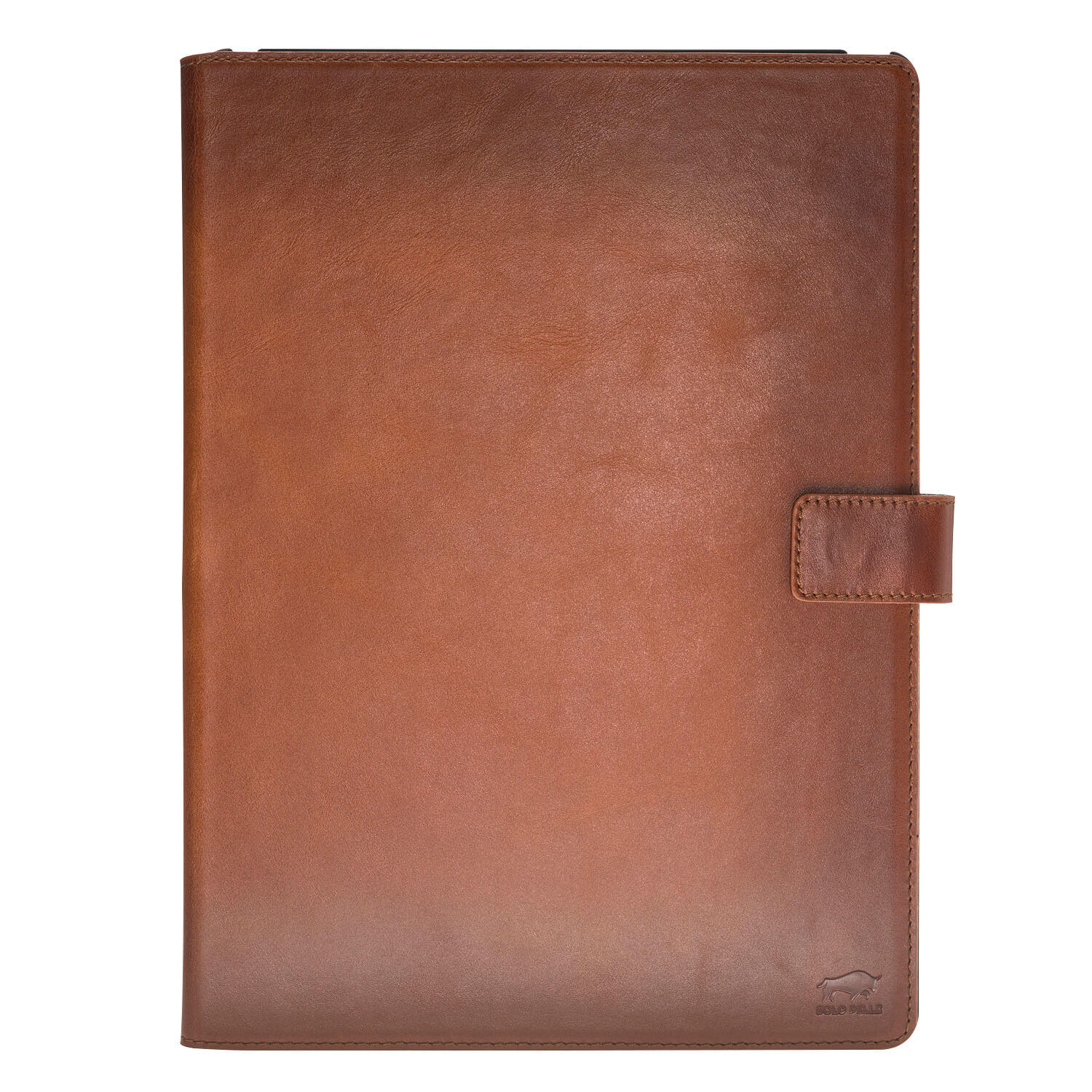 "IPad Pro 12,9 Zoll ""Miami"" Ledertasche in Cognac Braun Burned"
