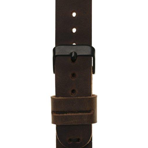 Apple Watch Lederarmband in 38mm / 40 mm Vintage Braun / Schwarzer Connector + Schwarze Naht