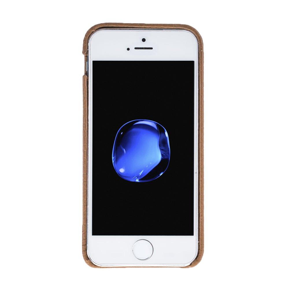 "iPhone SE / 5 / 5S Hülle - ""Pomona"" - Floater Braun aus Leder"