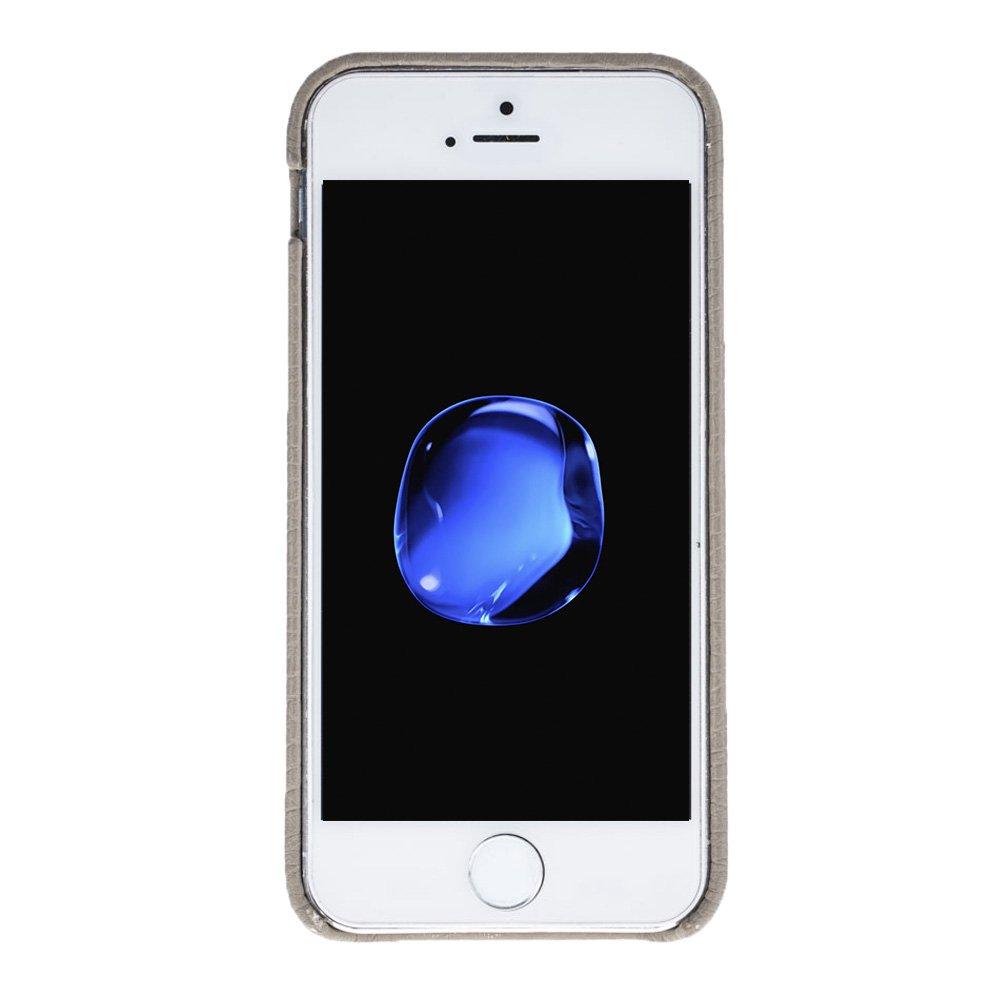 "iPhone SE / 5 / 5S Hülle - ""Pomona"" - Floater Taupe aus Leder"