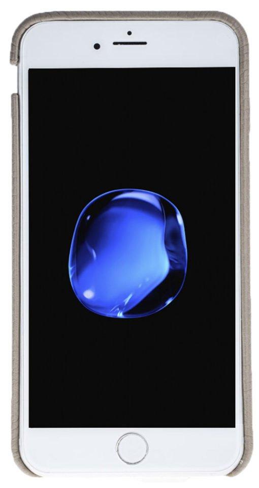 "iPhone 6 Plus / 6S Plus Hülle - ""Fullcover"" - Floater Taupe aus Leder"