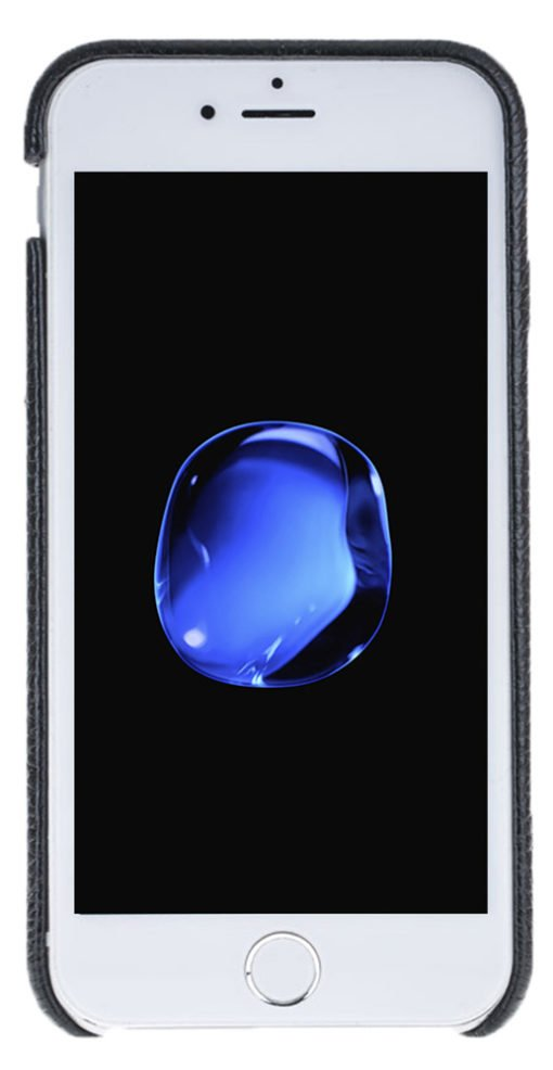 "iPhone 6 Plus / 6S Plus Hülle - ""Fullcover"" - Floater Schwarz aus Leder"