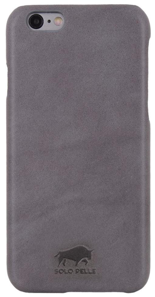 "iPhone 6 Plus / 6S Plus Hülle - ""Ultra Slim"" - Light Grau aus Leder"