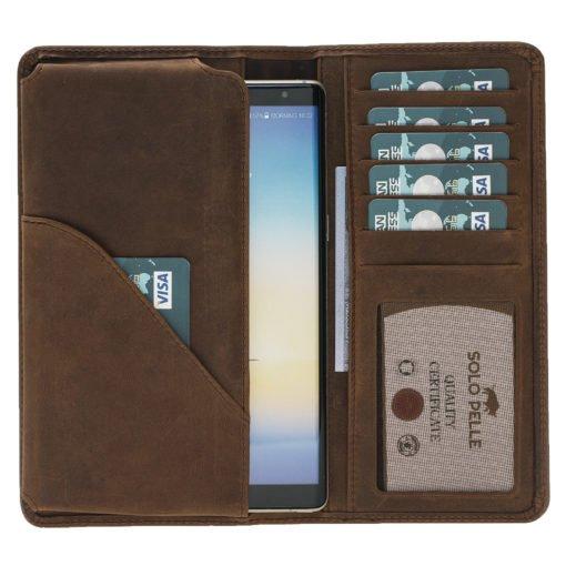 "Hülle - ""Universal Wallet"" - Vintage Braun aus Leder"