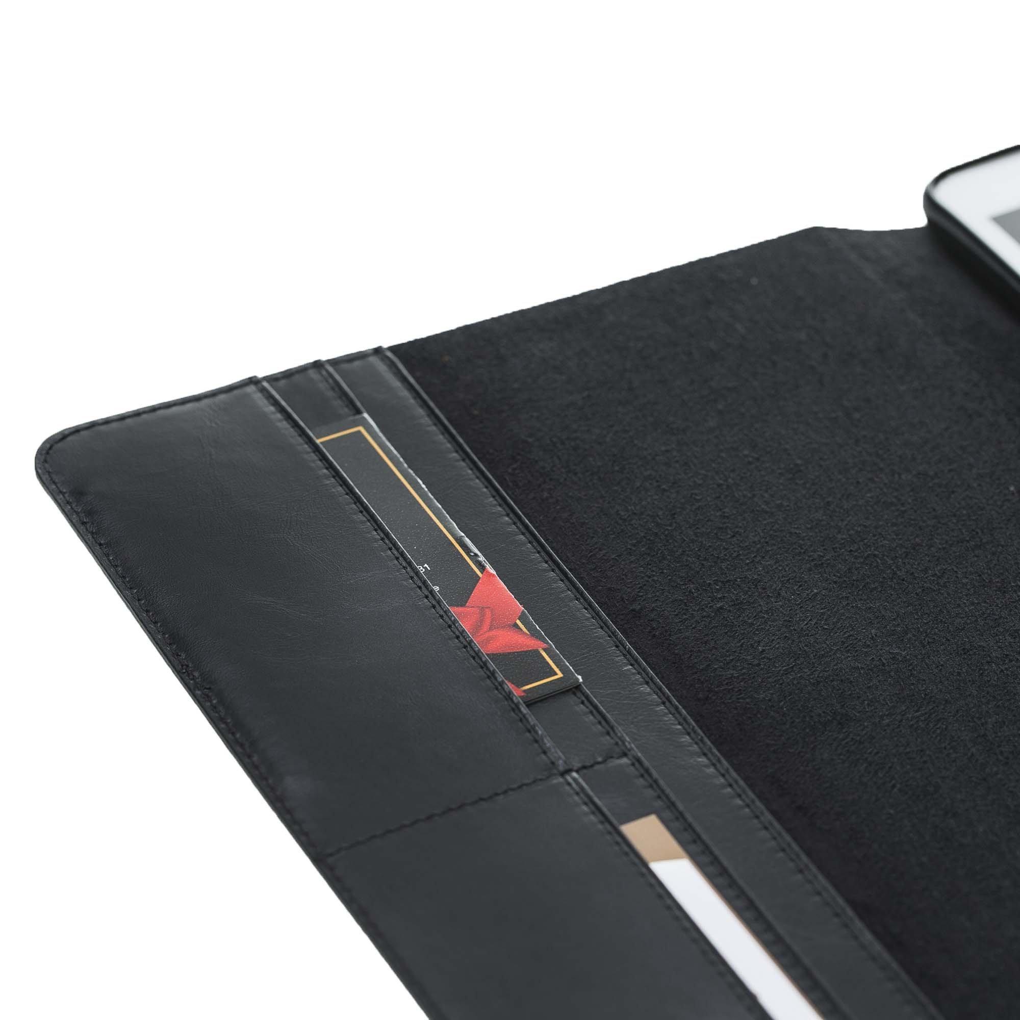 ipad pro 10 5 zoll ledertasche in schwarz. Black Bedroom Furniture Sets. Home Design Ideas