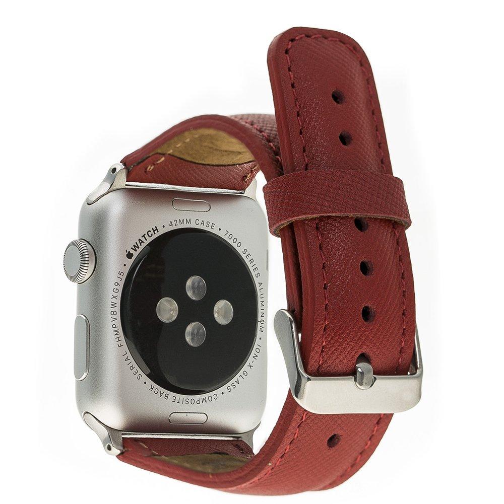 Apple Watch Lederarmband 42mm / 44 mm  in Saffiano Rot
