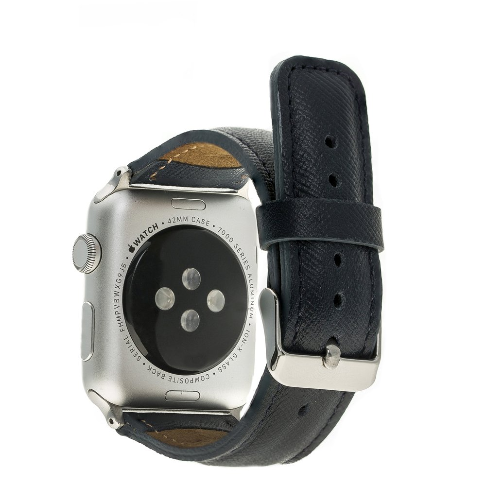 Apple Watch Lederarmband 38mm / 40 mm  in Saffiano Navy Blau
