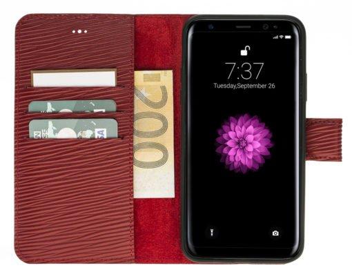 """iPhoneX / XS Hülle - Abnehmbar """"Harvard"""" - Epi Rot aus Leder"""