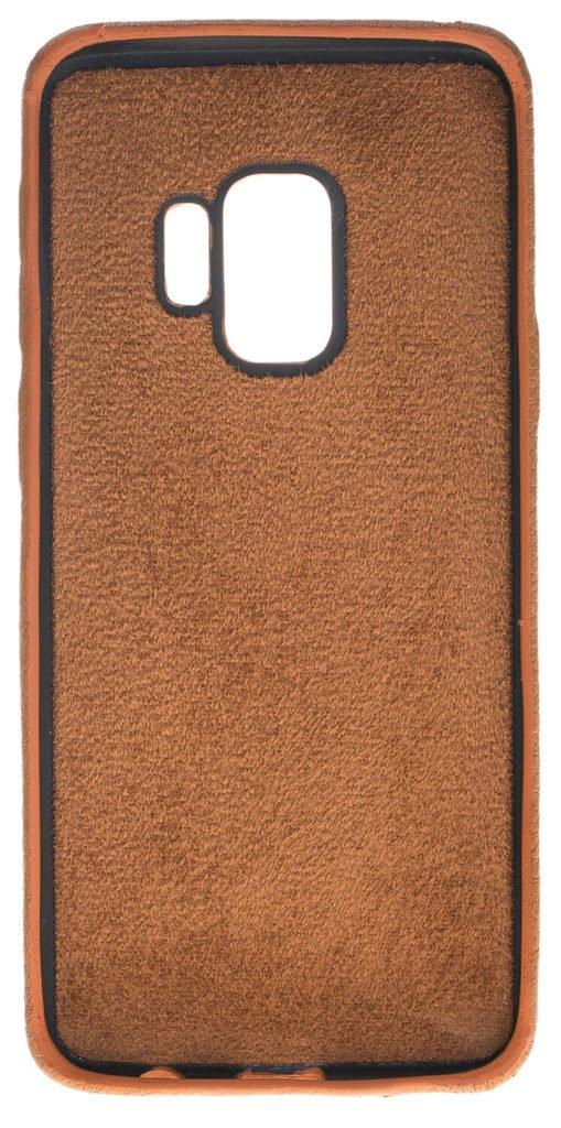 Samsung Galaxy S9 Lederhülle Ultra Cover aus genarbtem Leder Braun