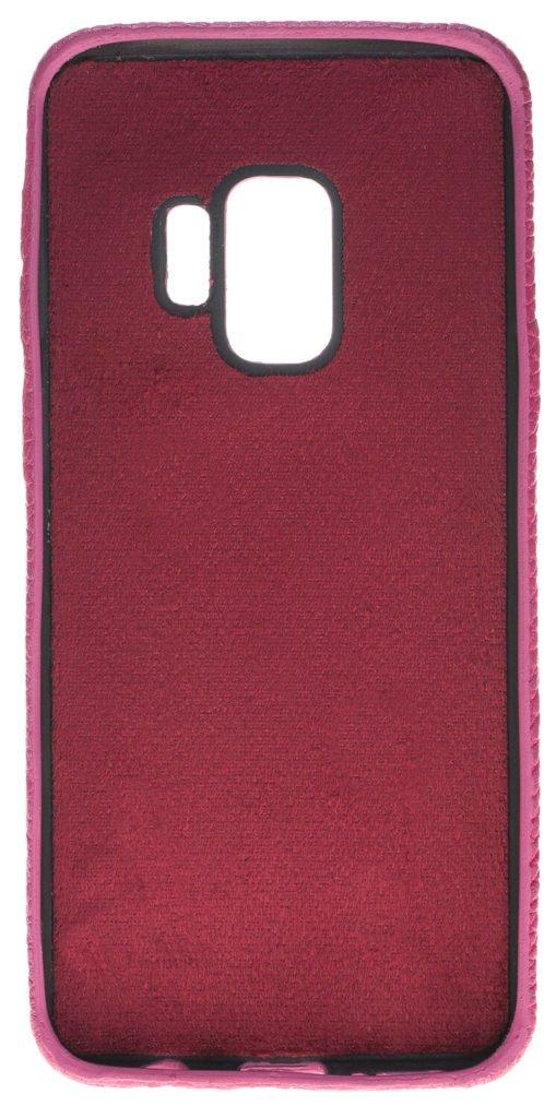 Samsung Galaxy S9 Lederhülle Ultra Cover aus genarbtem Leder Lila