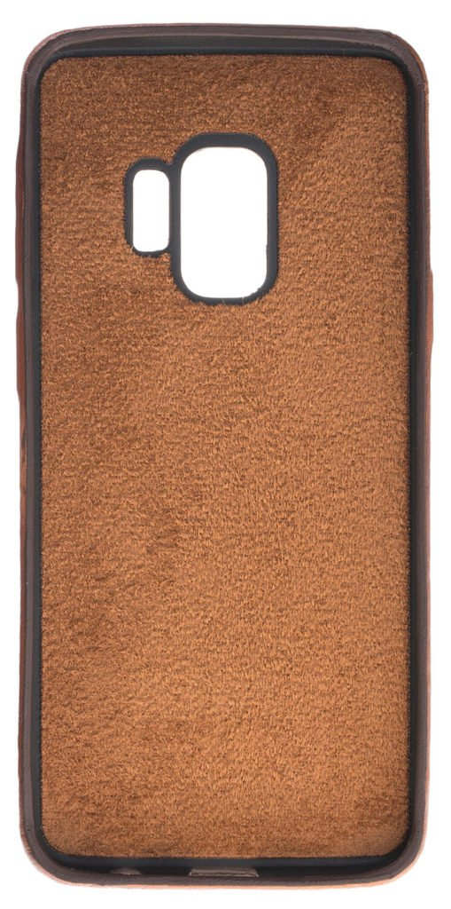 Samsung Galaxy S9 Lederhülle Ultra Cover aus in Cognac Braun Burned