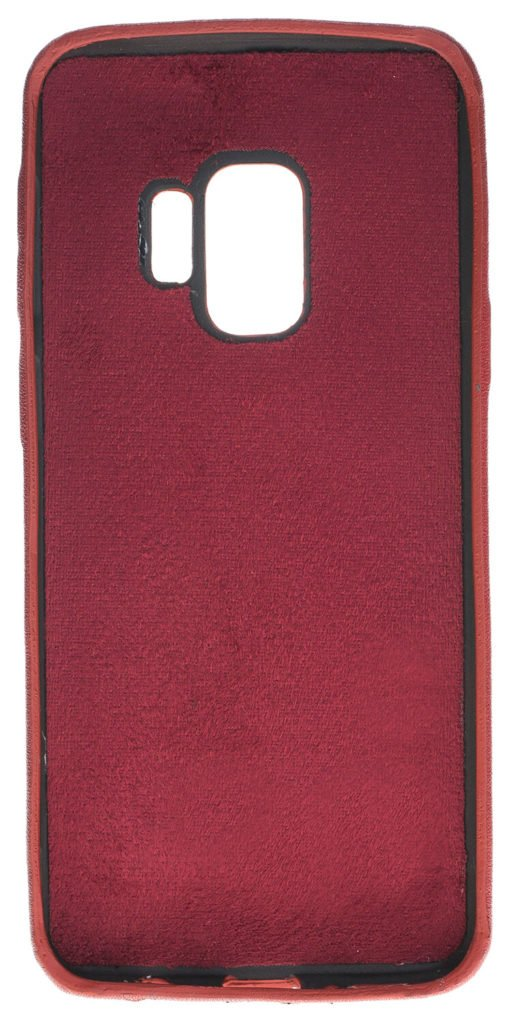 Samsung Galaxy S9 Lederhülle Ultra Cover aus in Rot Burned