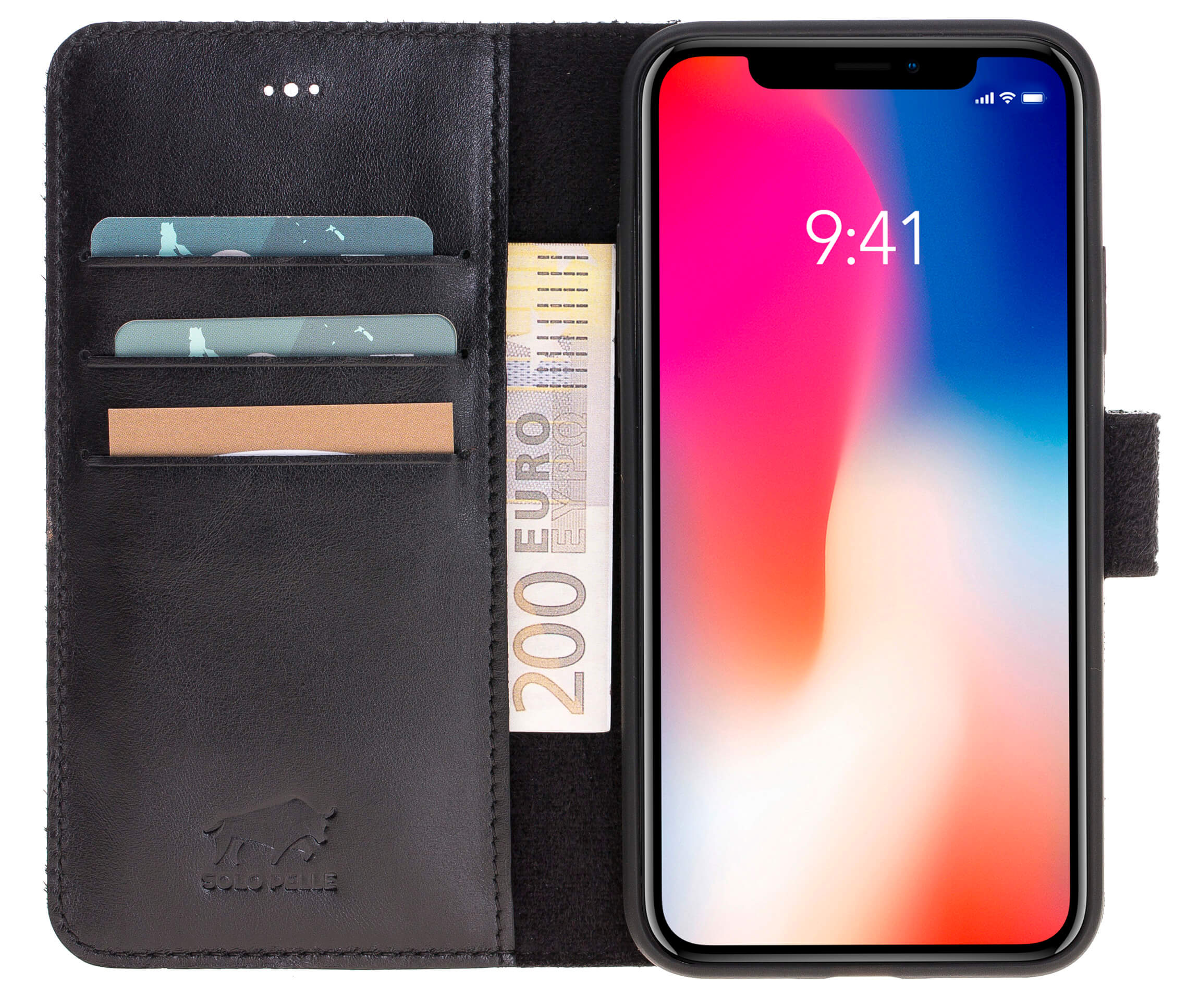 magic wallet iphone x solo pelle. Black Bedroom Furniture Sets. Home Design Ideas