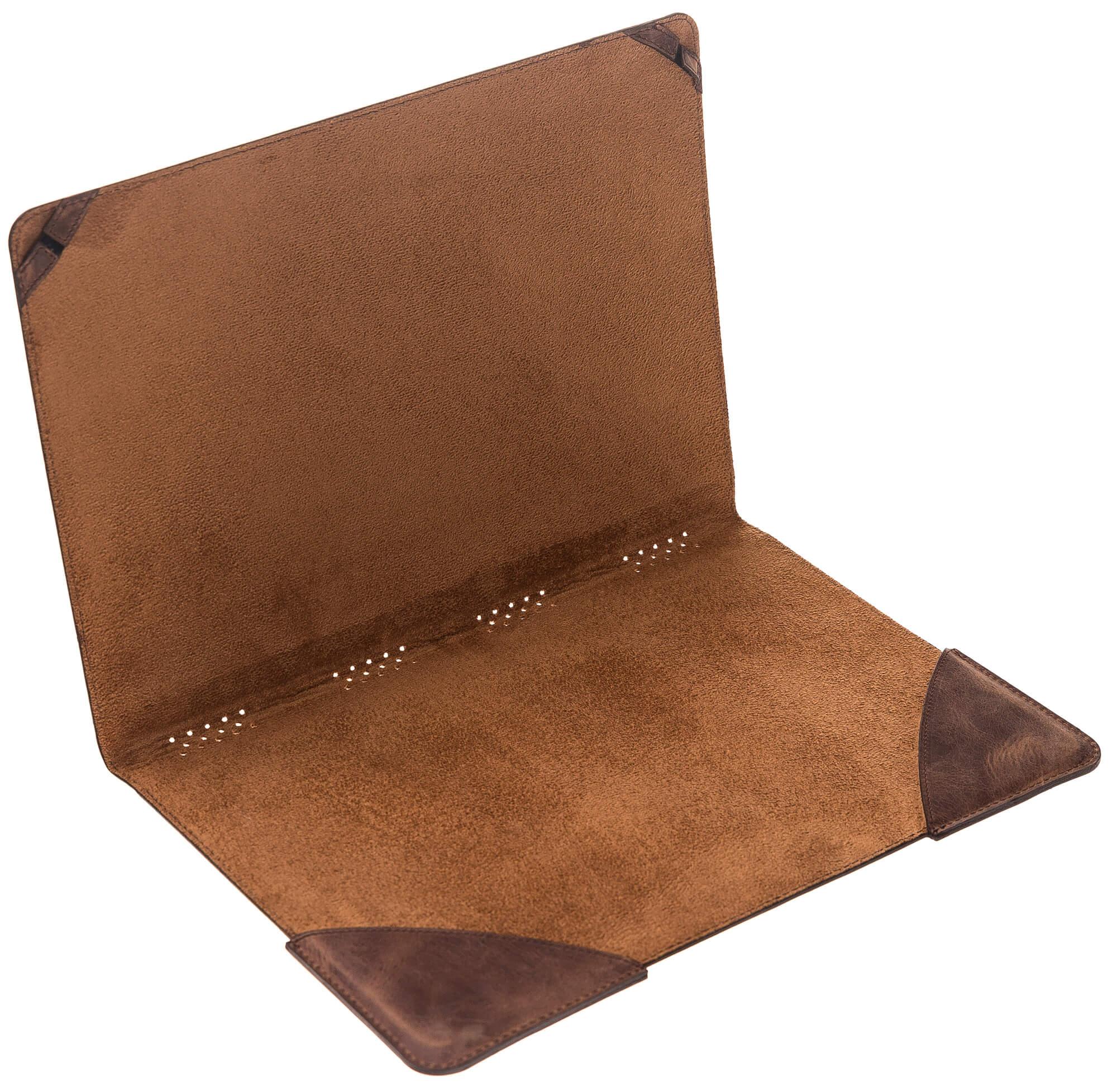 """MacBook 12 Zoll """"Münich"""" Tasche aus echtem Leder in Vintage Braun"""