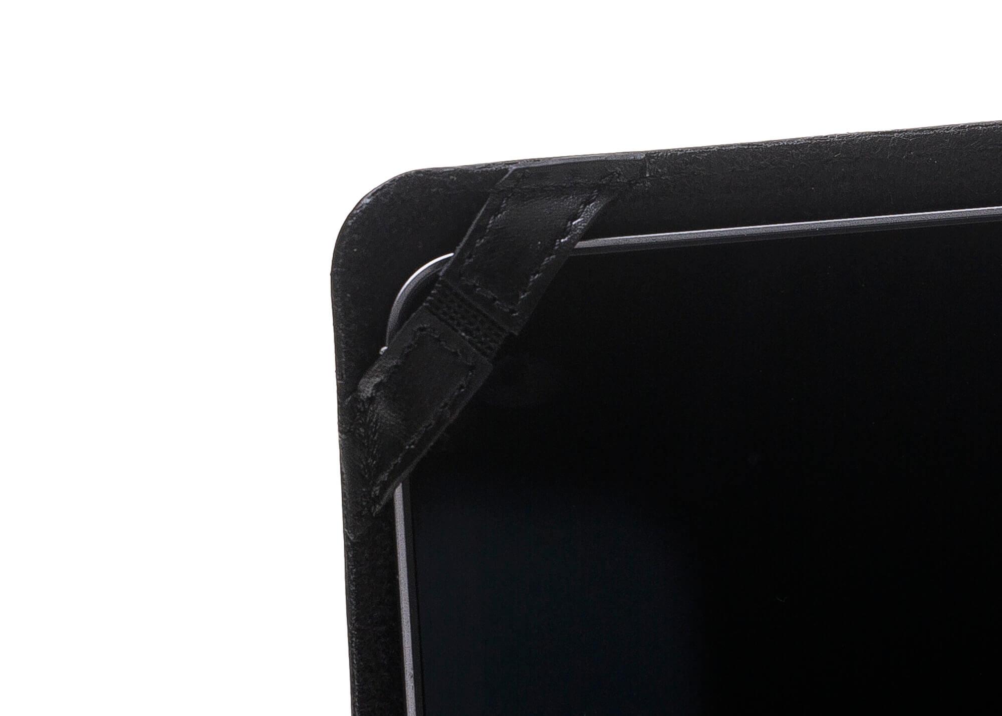 """MacBook Pro 13 Zoll & Retina 13 Zoll """"Münich"""" Tasche aus echtem Leder in Schwarz"""