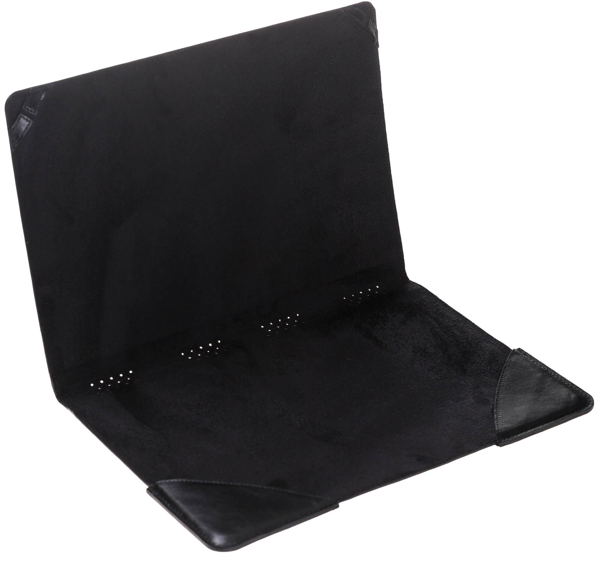 """MacBook 12 Zoll """"Münich"""" Tasche aus echtem Leder in Schwarz"""