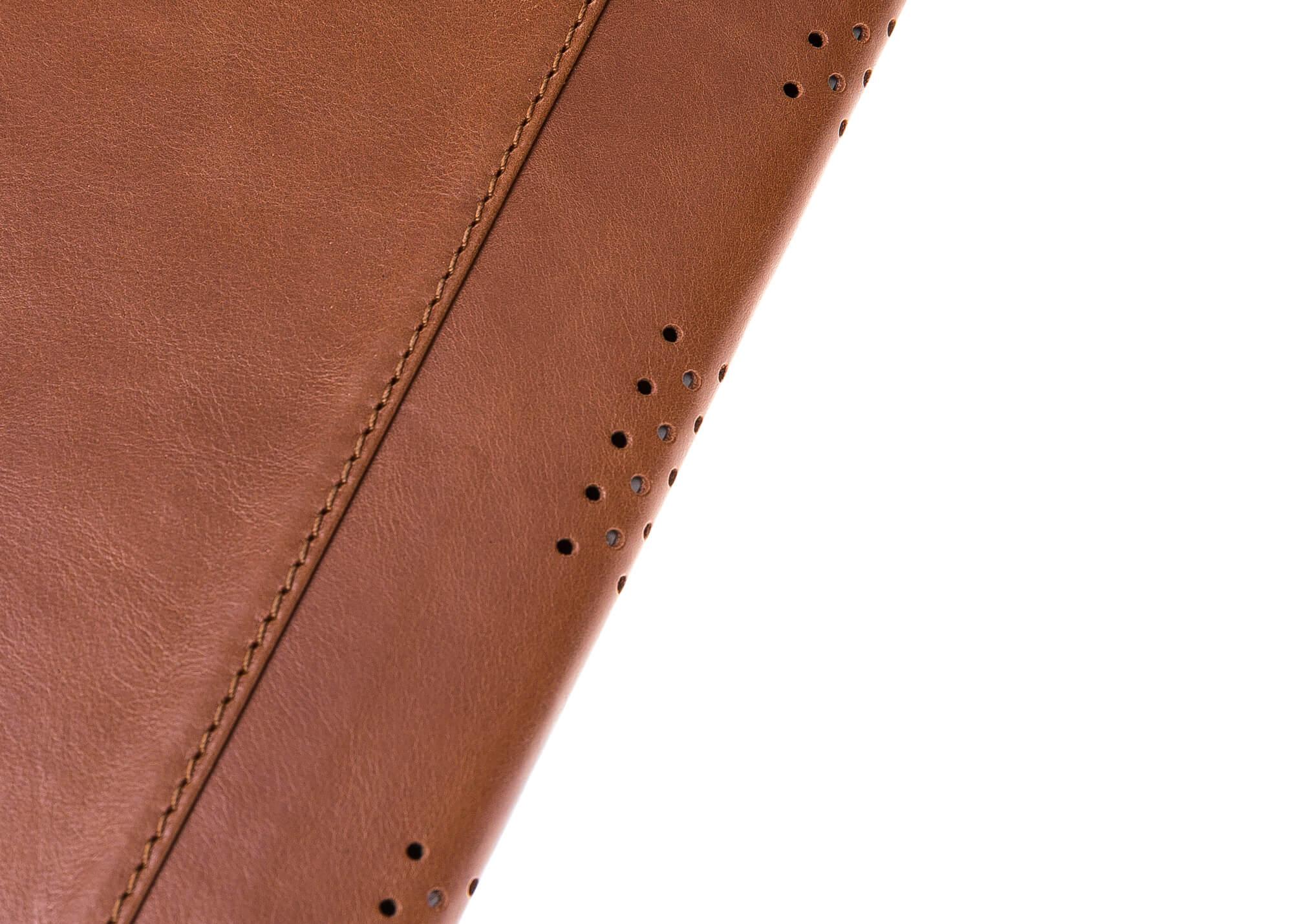 "MacBook Pro 13 Zoll & Retina 13 Zoll ""Münich"" Tasche aus echtem Leder in Cognac Braun"