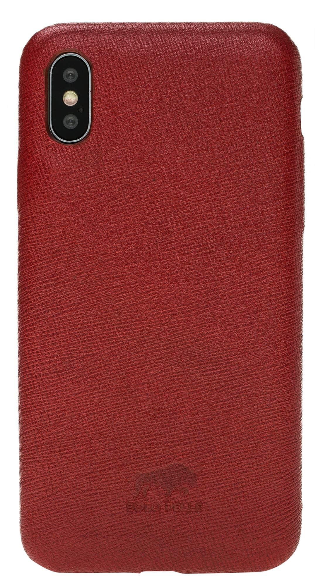 "iPhone X Lederhülle ""Ultra Cover""(Saffiano Rot)"