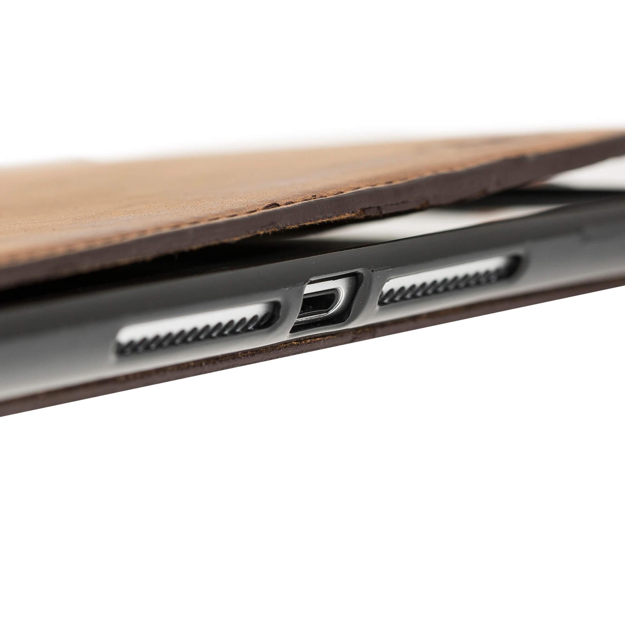 """iPad 9,7 Zoll 2018 Tasche aus echtem Leder """"Miami"""" in Vintage Braun"""
