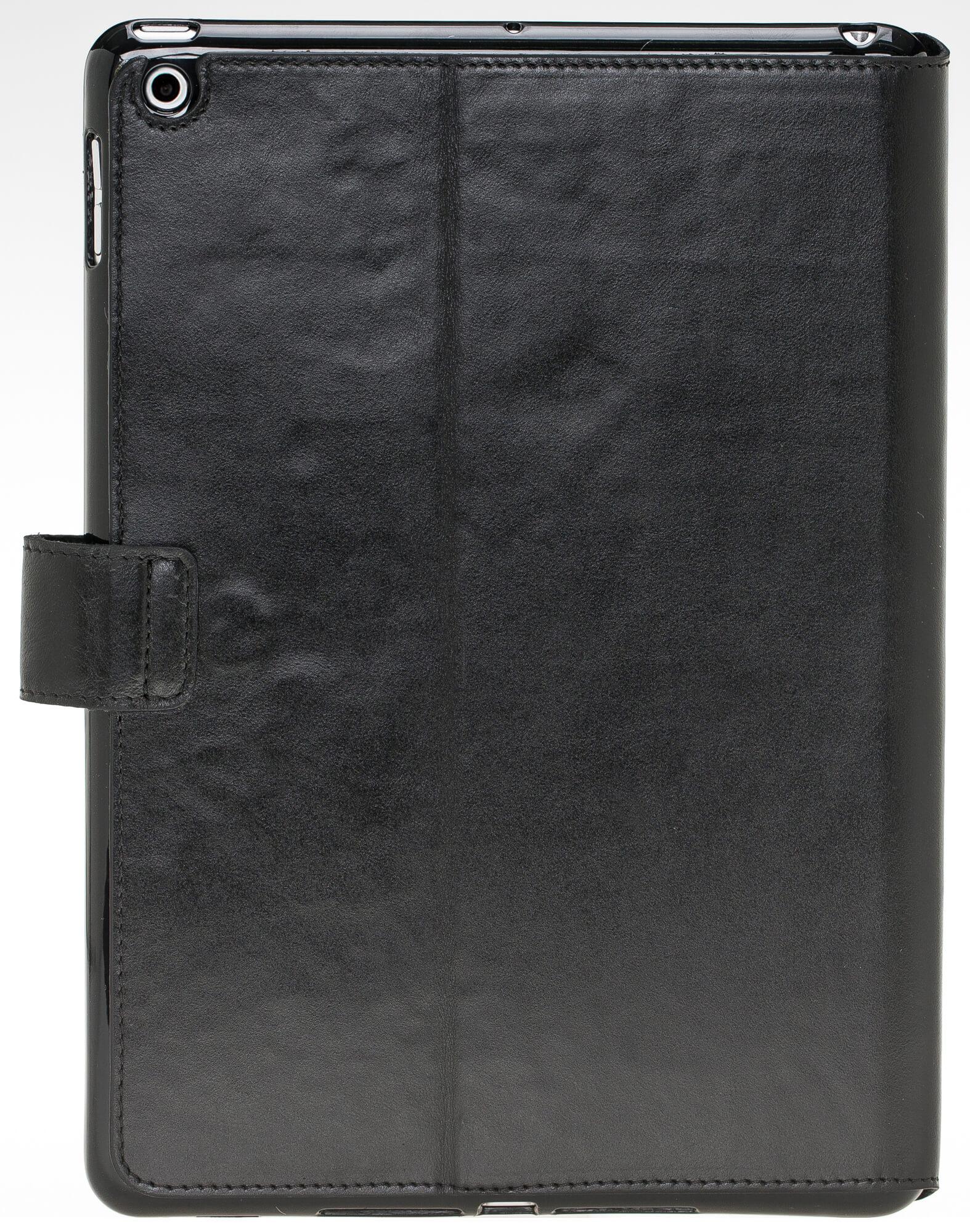 """iPad 9,7 Zoll 2018 Tasche aus echtem Leder """"Miami"""" in Schwarz"""