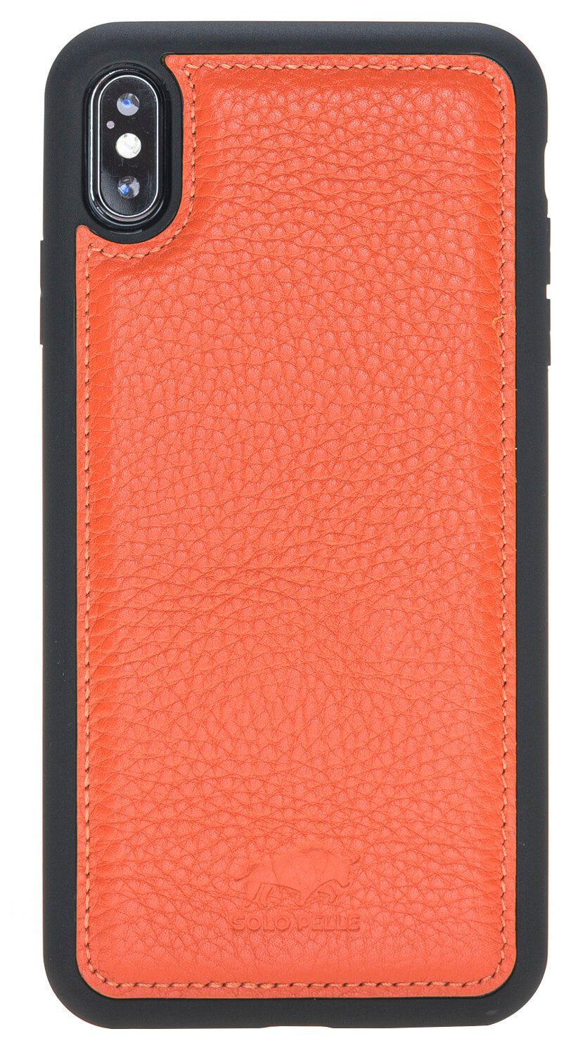 "iPhone XS Max ""FLEX"" Lederhülle in Orange"